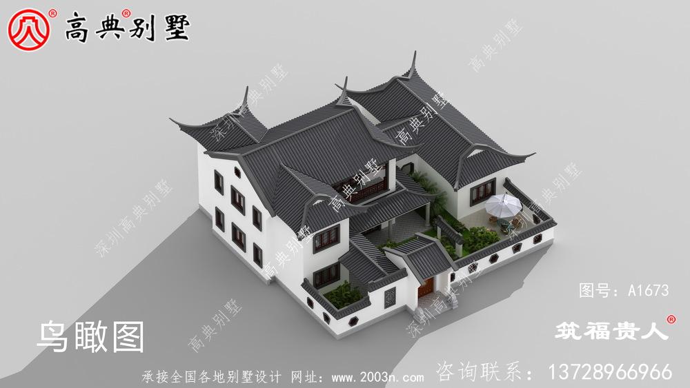 这座苏式园别墅,灰白色搭配效果非常优雅美丽大方,造价便宜