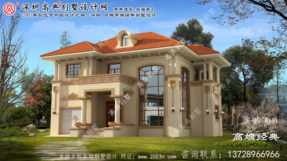 丹阳市与众不同的意大利风格两层别墅效果图