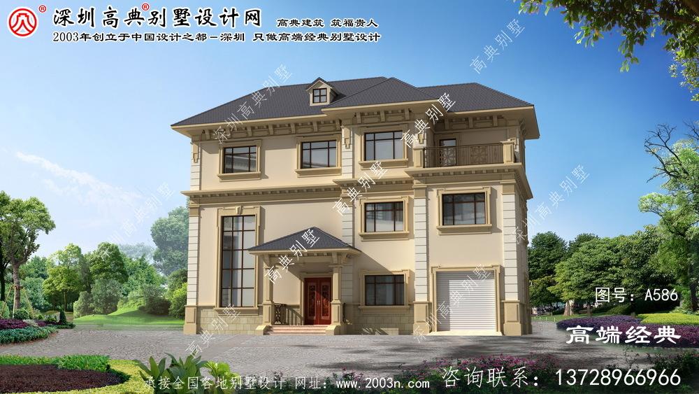 八公山区简约欧式风格豪宅设计图