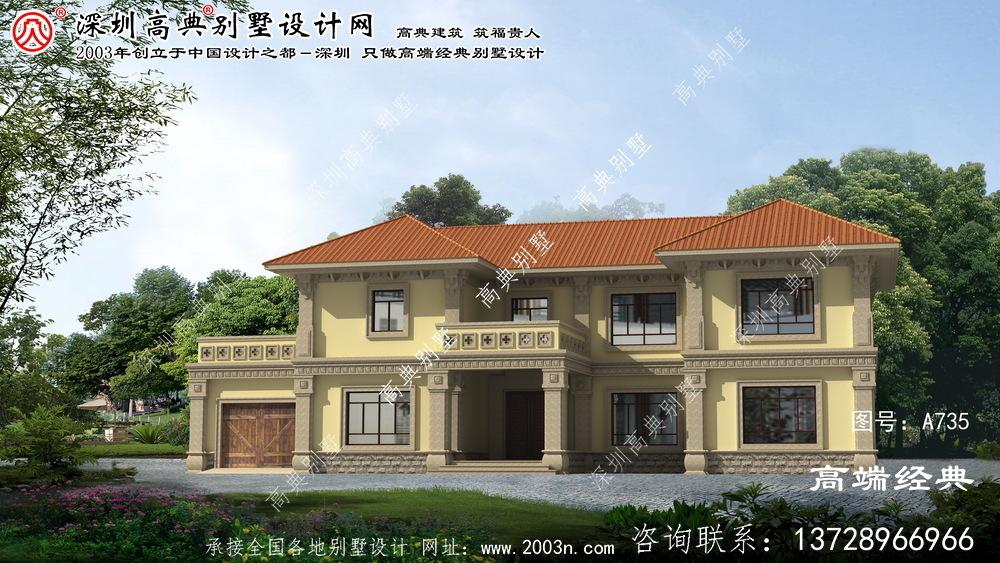 海盐县简欧二层别墅设计图