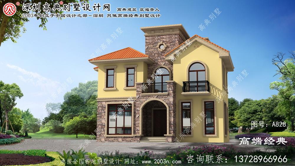 欧式三层别墅户型设计图外观温馨典雅