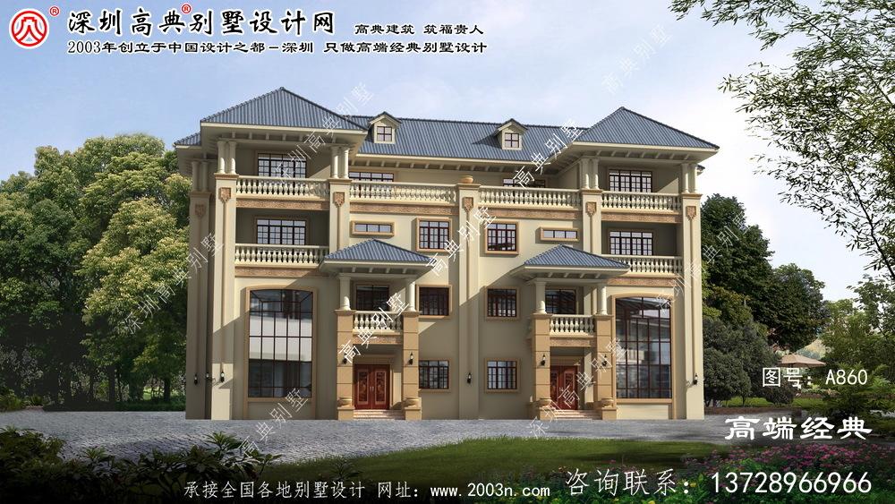 顺昌县四层双拼欧式别墅设计图