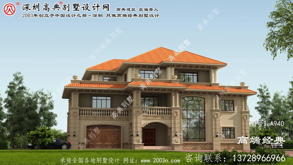 永新县农村3层小别墅外观