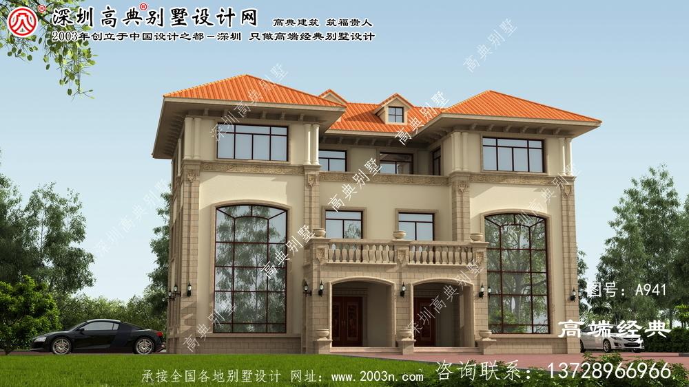新干县私人双拼别墅设计图