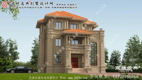 深泽县三层别墅设计效果图大全