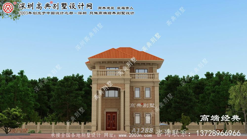 元氏县三层乡村别墅设计图
