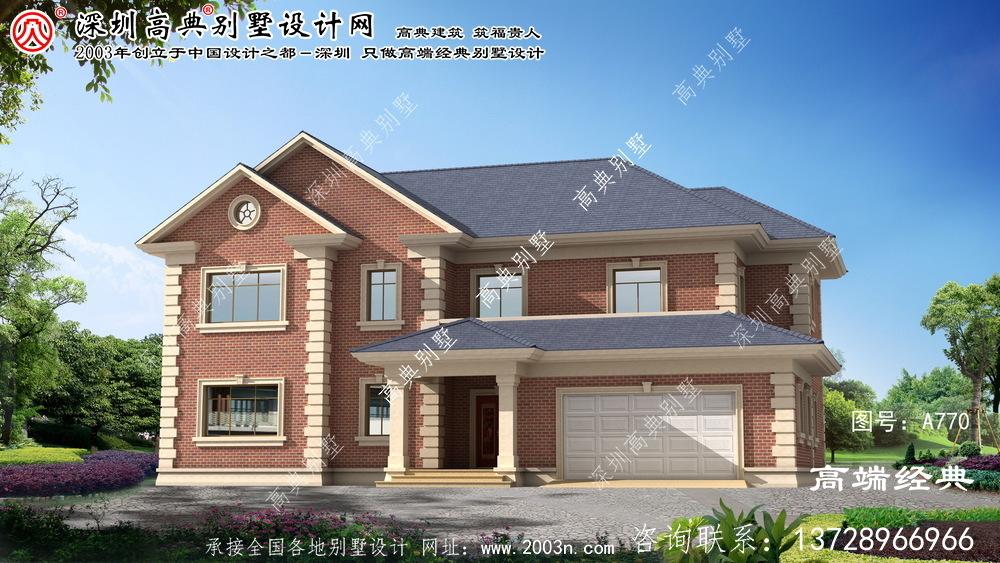 长垣县最新两层别墅设计图