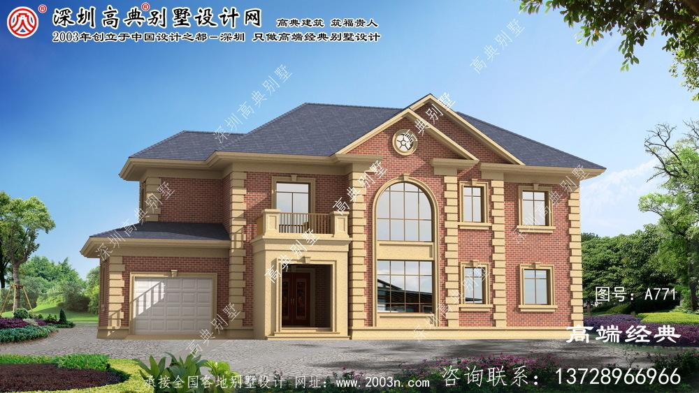 孟州市两层小洋楼别墅设计图