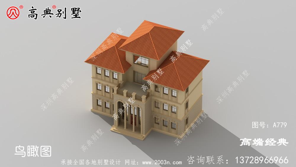 农村四层大户型别墅图纸