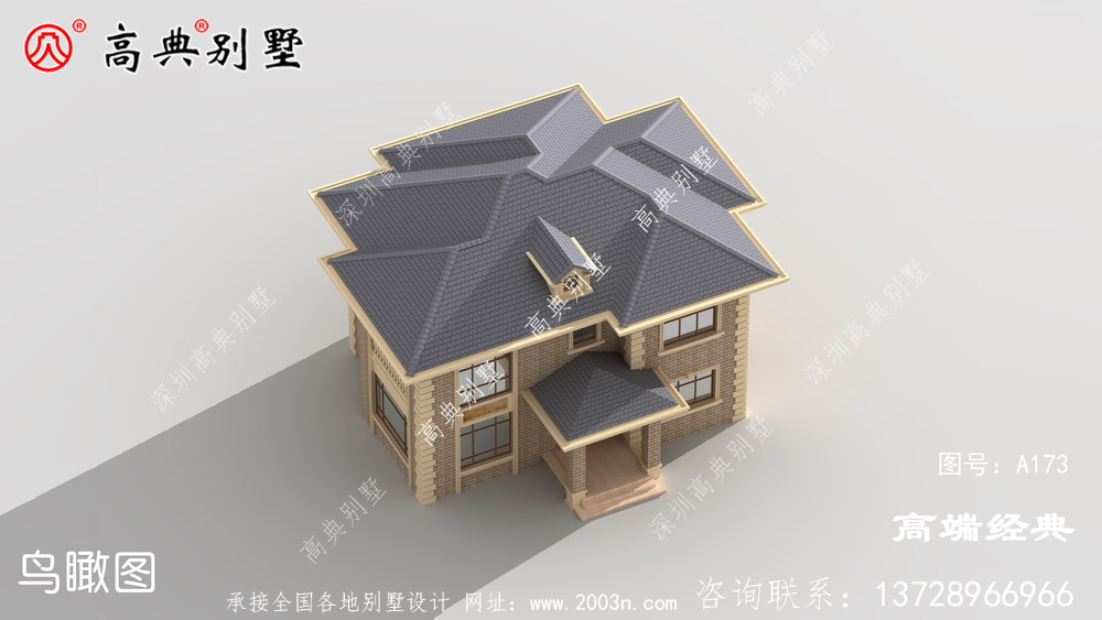 农村小别墅图片砖混结构筑成造价低