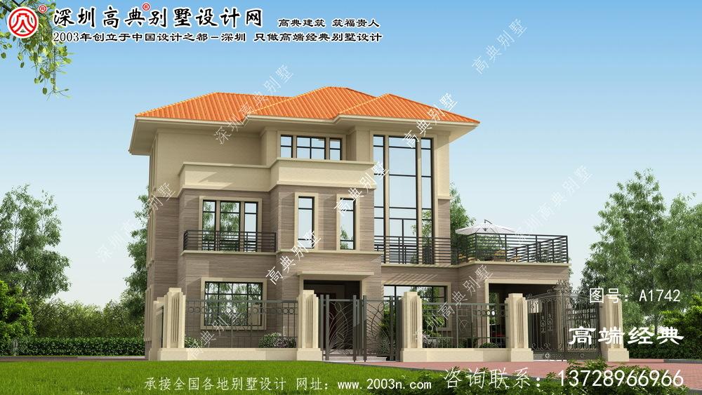 和硕县清爽、朴素的三层小屋设计图样。