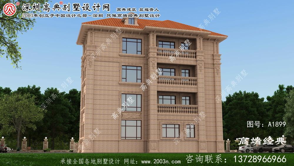 鄄城县欧式三层别墅设计图纸,美观实用。