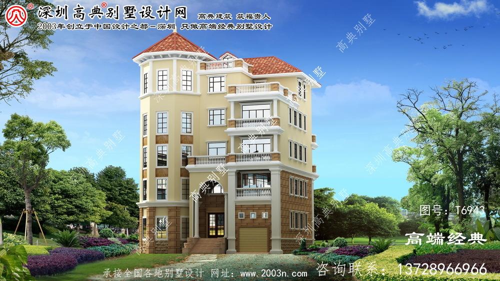 青龙满族自治县大气豪华5楼欧元复式别墅设计图。