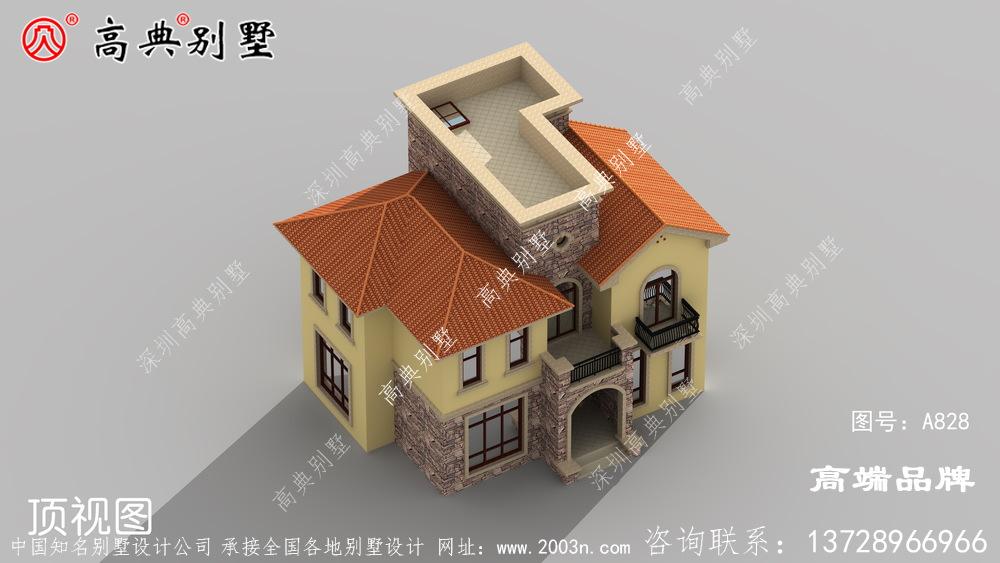 农村自建房错落有致,看起来非常气派