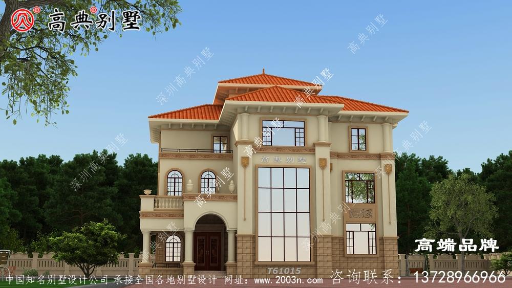 别墅造型外观图建成了想想就很惬意