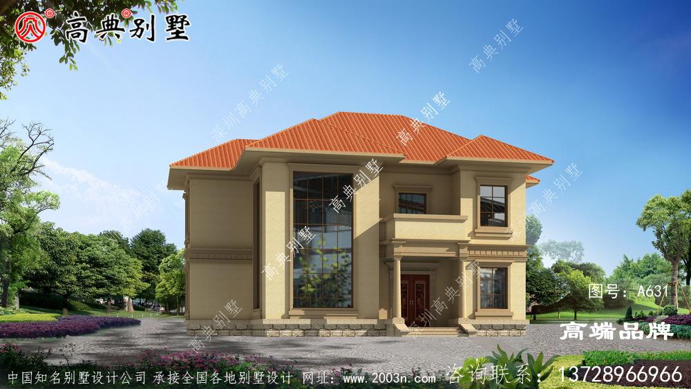 193平自建房设计图时尚耐看、空间舒适