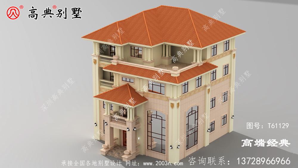 农村房设计图大全整体配色显得别墅更为精美。