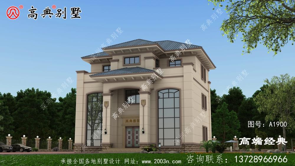 一栋非常非常适合农村自建的复式三层别墅