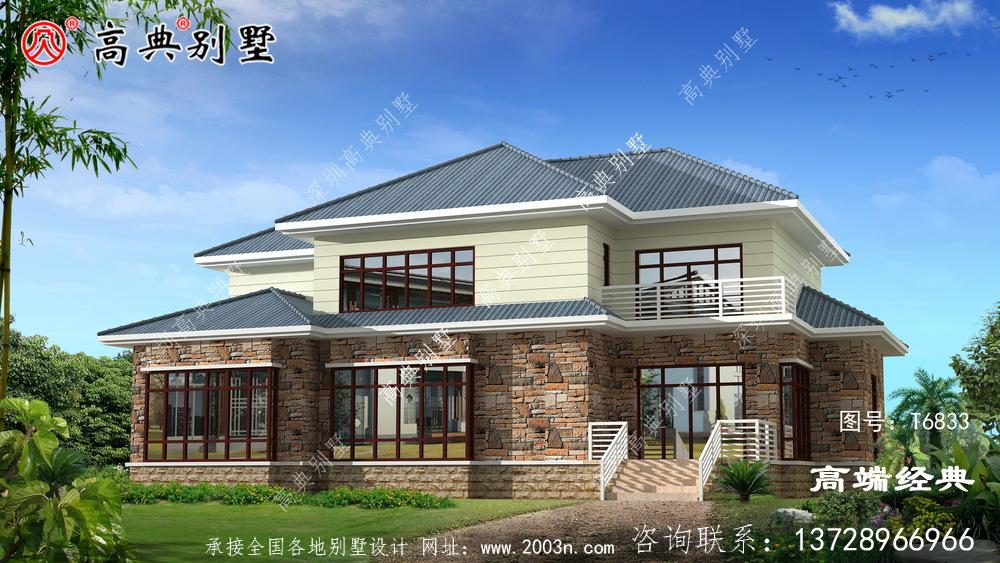 豪华大气的农村住房户型图滨州市