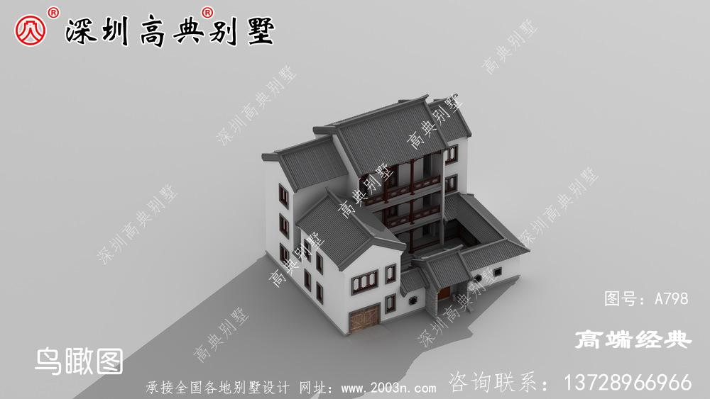 乡村别墅设计图,外观大气豪华,怎么不叫邻居羡慕嫉妒恨!