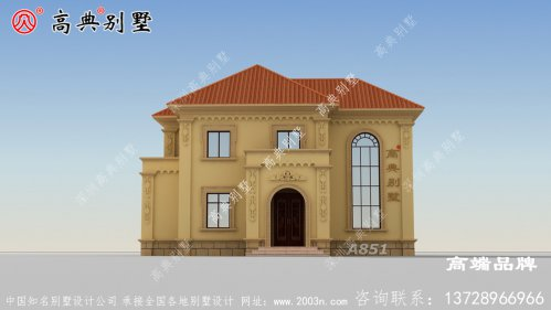 一套农村实用大方的独栋别墅设计