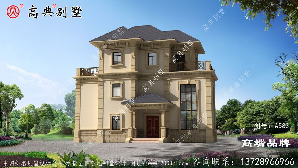 盖栋漂亮的别墅,家人住得舒服,脸上也光。
