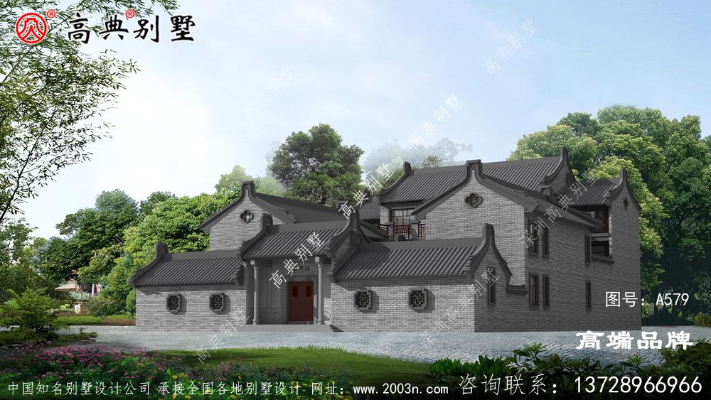 中式庭院别墅外观图,低调的美感