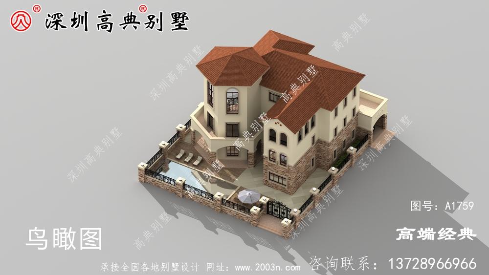 65万建3层别墅,田园风十足,建栋在老家,肯定面子足。