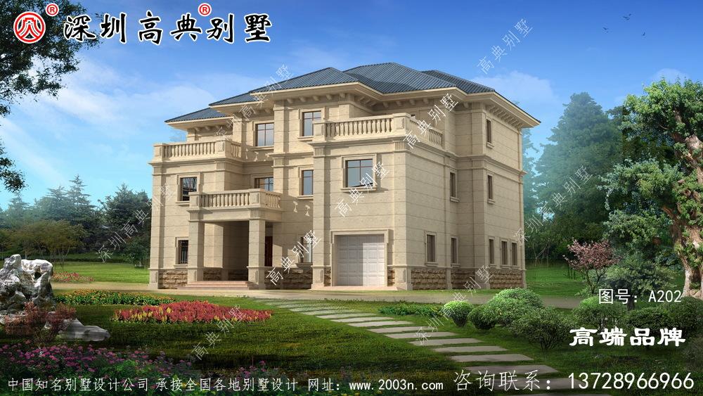 新乡下 三层 楼房设计图 ,希望 你会 喜欢 。