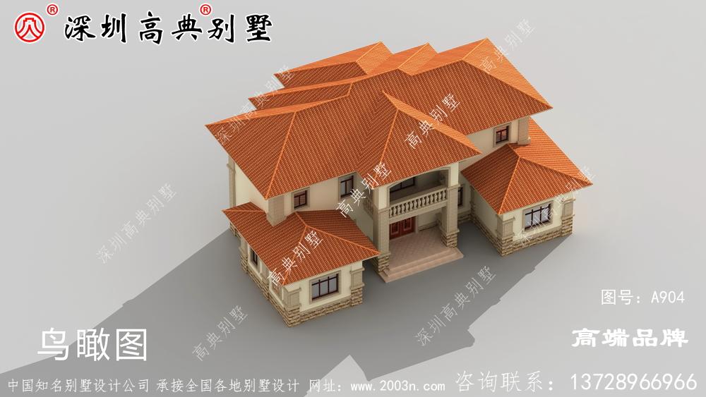 时尚大气又温馨实用的农村二层别墅设计,非常适合农村修建!