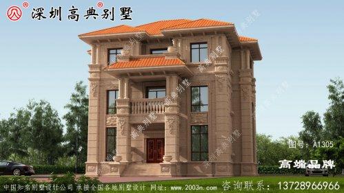 三层别墅设计图,外型