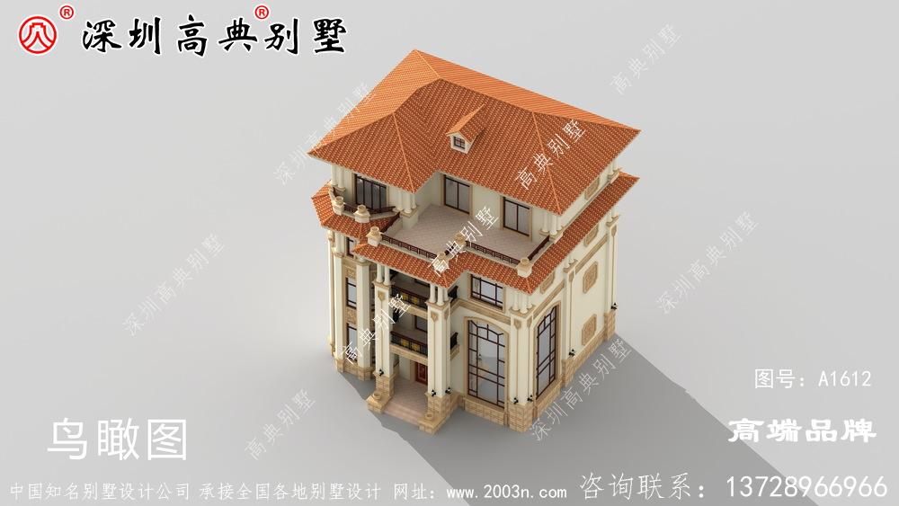 四层自建房设计图,造价实惠,户型合理,30万就可以建