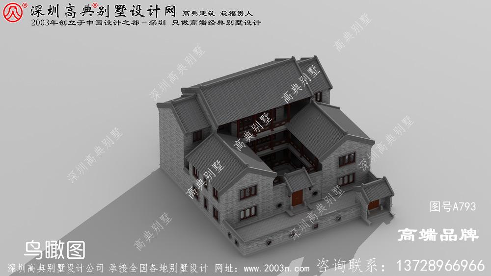 强烈推荐款中式别墅效果图,超赞的中式小洋楼千万不要错过了