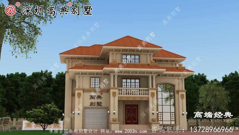 这个三层楼高的建筑设计美极了,丝毫不输于坡顶别墅。