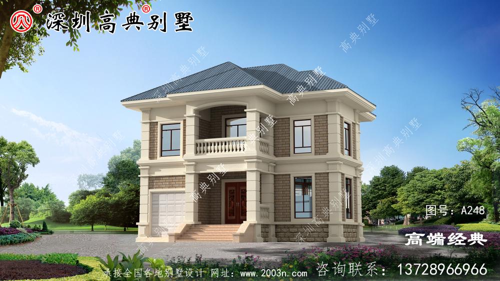农村二层自建房效果图,盖起来毫不逊色,高端大气上档次