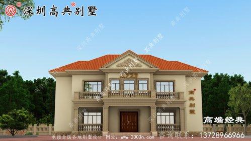2021年最新二层别墅图,外观简洁美观,回乡建房可选择。