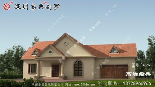 洋气简约大气的两层别墅设计图,外观十分好看,让人移不开眼睛