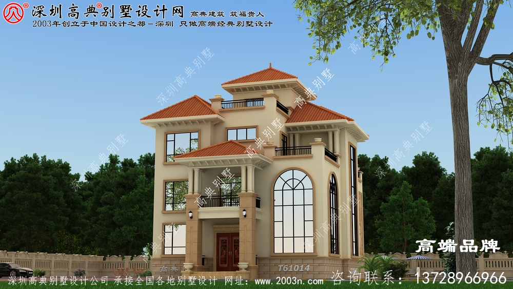 非常豪华的农村自建别墅设计图,领略下自建别墅的豪气