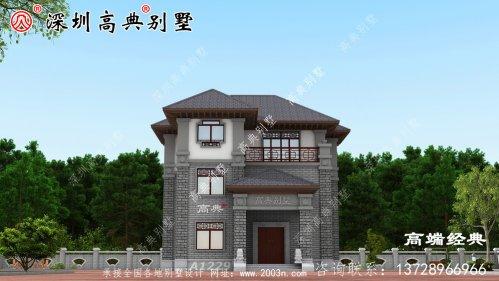 三层中式别墅设计图
