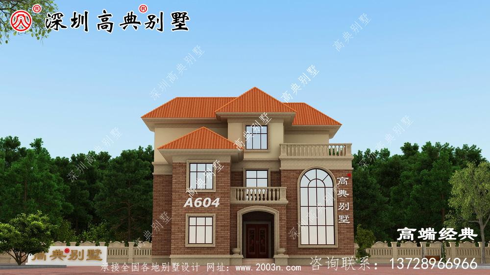乡村复式二层半别墅图,这样盖的房子,住起来更舒服。