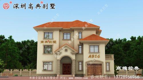农村三层自建房外观图