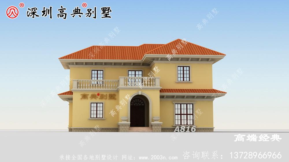乡村二层自建房效果图,经济实用,保证眼前一亮。