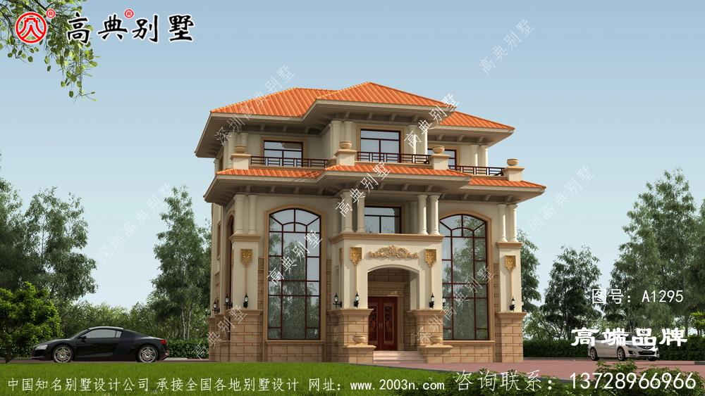 斜屋顶设计非常唯美,外观配色清新明亮以暖色为主